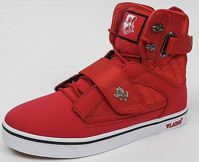 Vlado Footwear Men's Atlas II 2 Red White Hi-Top Sneaker Shoes Sizes 9 - 12