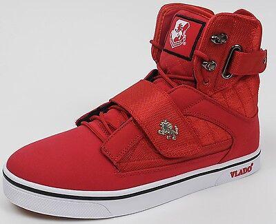 Vlado Footwear Men's Atlas II 2 Red White Hi-Top Sneaker Shoes Sizes 9 - 12