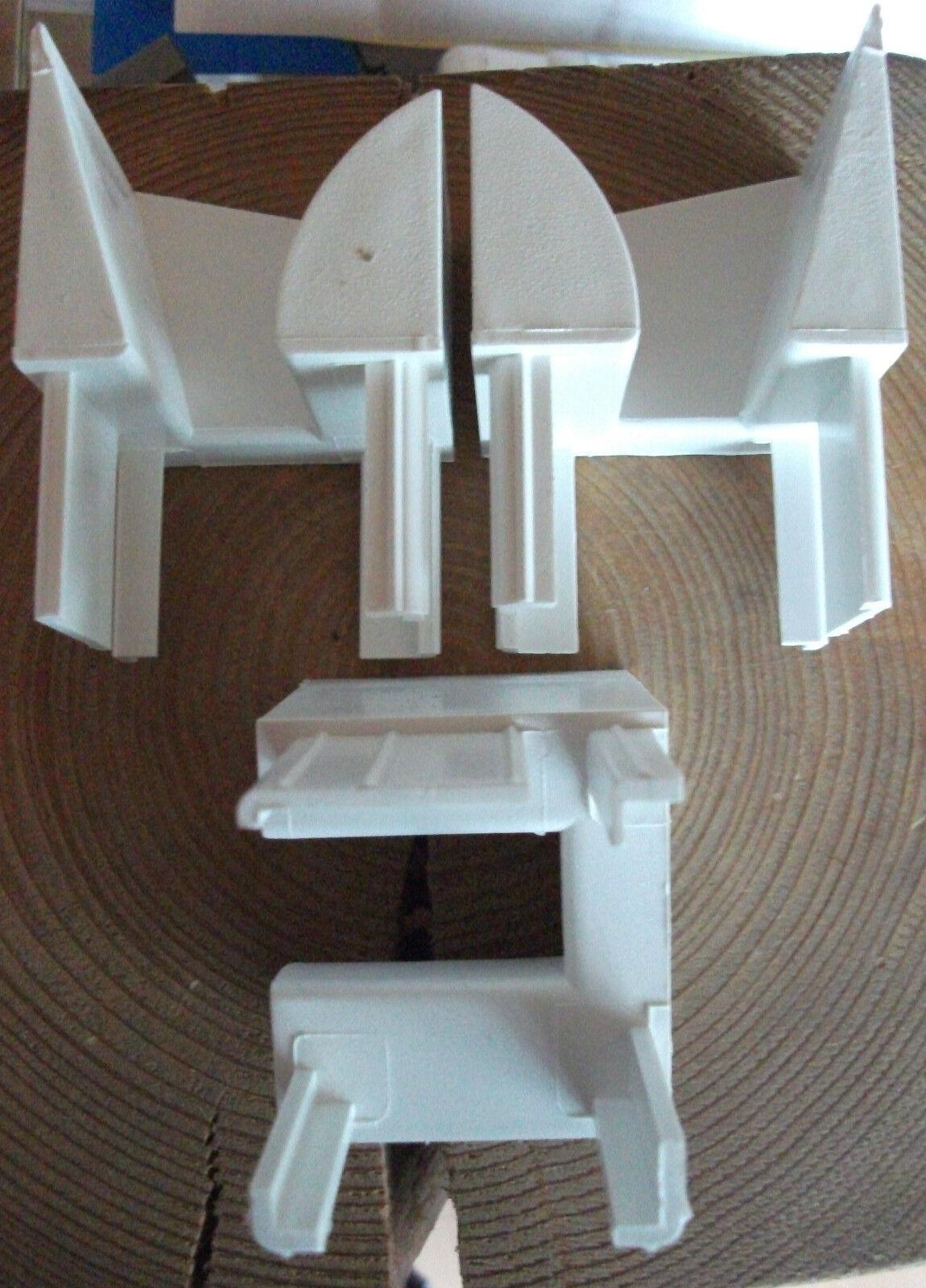 6 Paar Rolladen Einlauftrichter Set PVC Links und Rechts 43,5mmx 47mm Weiß