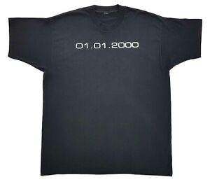 Vintage-2000-Once-In-A-Lifetime-Tee-Black-Size-XL-Mens-T-Shirt-Y2K