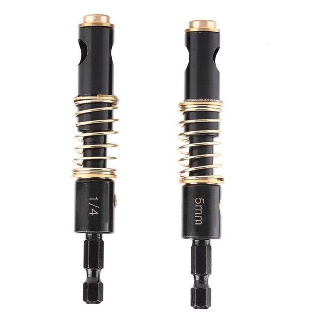 2Pcs Self Centering Hinge Drill Bit Set Reaming Drilling Wood Plastic 1/4 I O7Z5