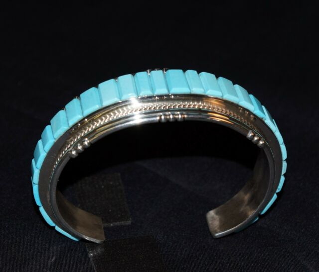 Sleeping Beauty Turquoise and Sterling Silver Bracelet, Navajo, Joan Douglas