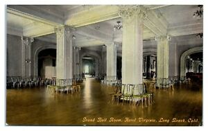 Early 1900s Grand Ball Room Hotel Virginia Long Beach Ca Postcard 5q18 Ebay