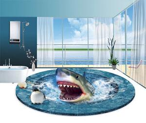 3d Wall Sticker Bathroom Decorative Vinyl Floor Sticker Shark Removable Decor Ebay