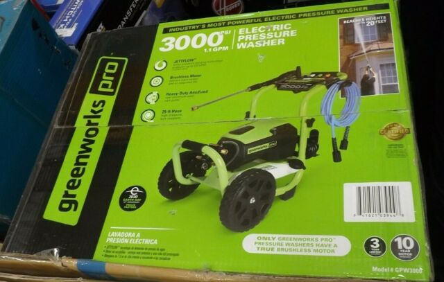 Greenworks Pro 3000-PSI 2-GPM Cold Water Electric Pressure Washer GPW3000 NEW
