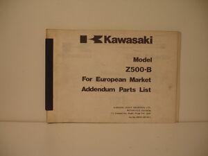 catalogue pièces détachées parts list CATALOGUE KAWASAKI Z500 B1 B2 SERIE1979 At2BDPlc-07135728-812567857