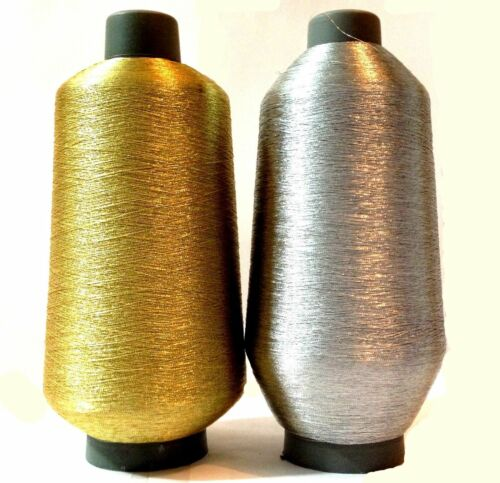 GOLD /& SILVER YARNS METALLIC EMBROIDERY THREAD CONES BEST QUALITY UK SELLER