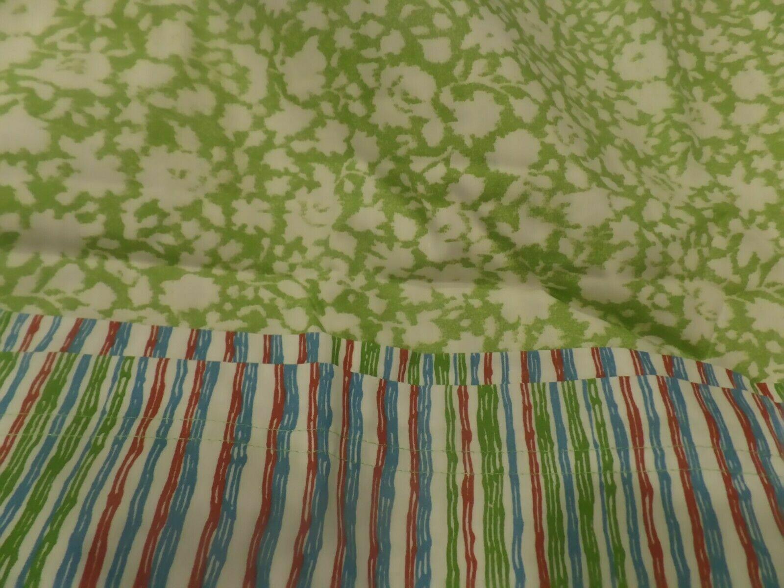 Ralph Lauren Gemma Stripe 3pc Cotton King Duvet Set 2 shams verde blu Ret.  350