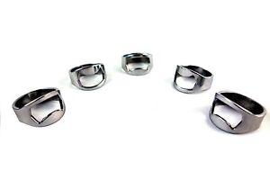 NEW-5pcs-Stainless-Steel-Finger-Ring-Bottle-Opener-Bar-Beer-tool-Colors-Silver