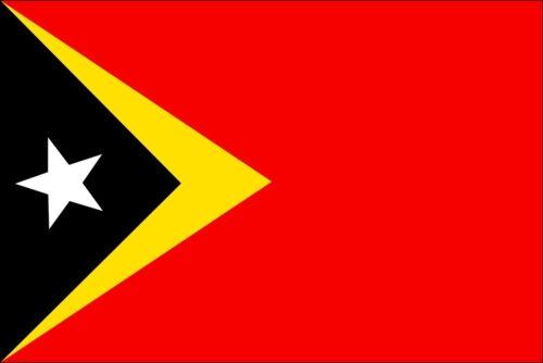 TIMOR-LESTE COUNTRY VINYL FLAG DECAL STICKER