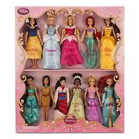 Disney Classic 11 Princess Doll Collection Barbie Set Rapunzel Jasmine Mulan +