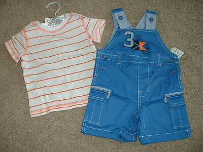 First Impressions Baby Boys Nautical Shortall Set Outfit Size 18 months NWT NEW