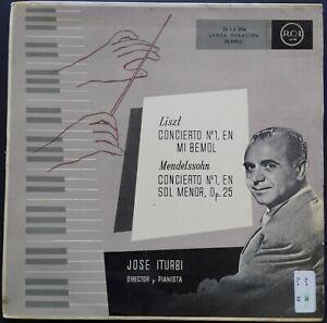 Liszt, Mendelssohn - Piano Concertos, JOSÉ ITURBI, RCA MONO