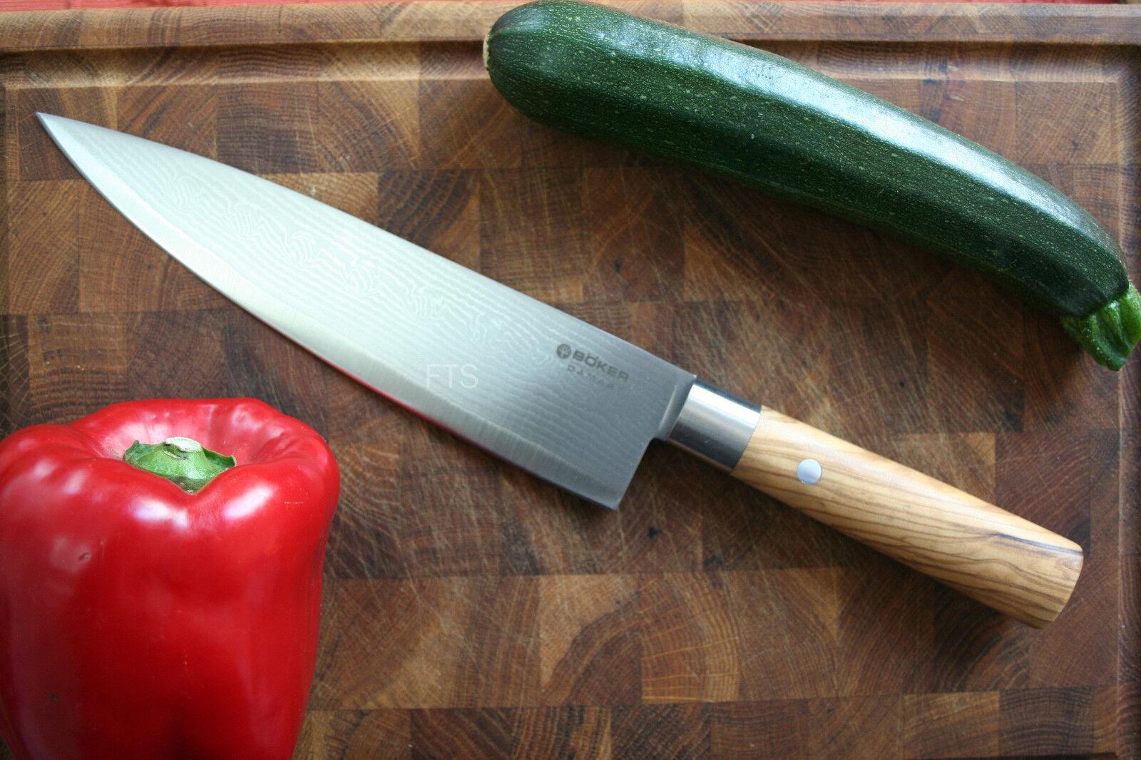 Böker Kochmesser Messer Messer für Köche Damast Olive Olive Olive 130439DAM Sonderpreis 5edab8