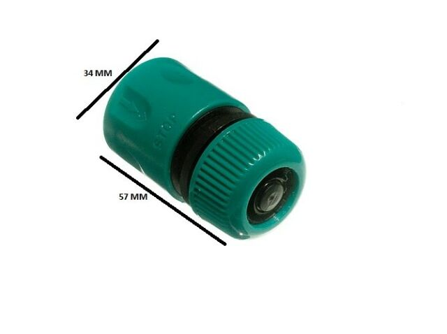 Quick fix snap fit garden hose quick connectors & stop pack of 10