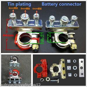 12V 3Way Positive Negative Battery Terminals Connectors Clamps Car Van Motorhome