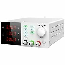 Dc Power Supply Variable With Memory Adjustable Switching 30v 10a White