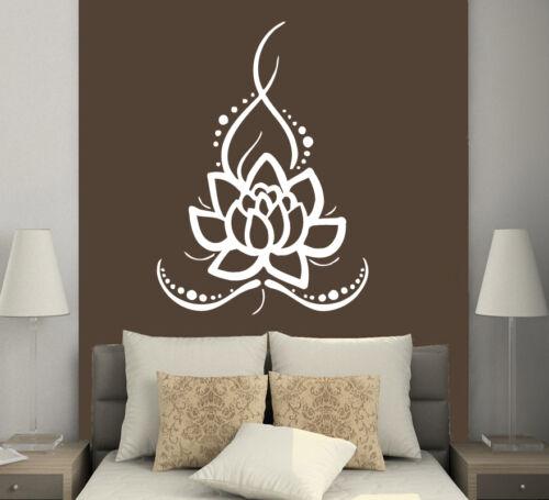Wall Decals Ornament Lotus Flower Vinyl Sticker Home Decor Boho Bohemian MS625