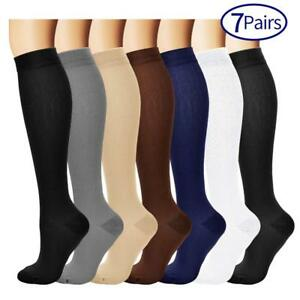 8628568911 7 Pairs Compression Socks For Women and Men - Best Medical Nursing ...