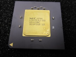 Vintage RARE NEC JAPAN VR4400MC D30412LRJ-250 Gold Ceramic CPU Processor