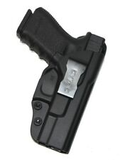 For Glock 19 23 32 (Gen 1,2,3,4) IWB Concealed Carry Gun Holster (Black Polymer)