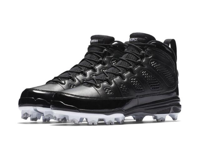 online store 33d70 d3930 Nike Men's Air JORDAN IX RETRO MCS Baseball Cleats Shoes Black AA1264-011 b