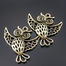 10pcs antiqued bronze color owl design pendant charm G1899