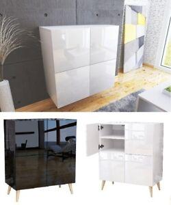 Kommode Schrank Mit Hochglanz Sideboard Hängenden Commode Blanc Weiß