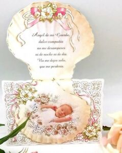 24 Invitaciones De Bautizo Spanish Christening girl baptism Invitations