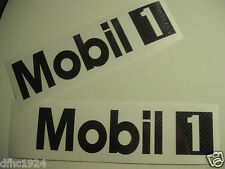 "Mobil 1 Oil Performance Logo Vinyl Sticker Decal (2) 8"" Black Carbon Fiber Vinyl"