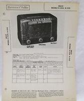 Vintage Photofact Folder Delco Models R-1234 & R-1235 Radio Parts Manual