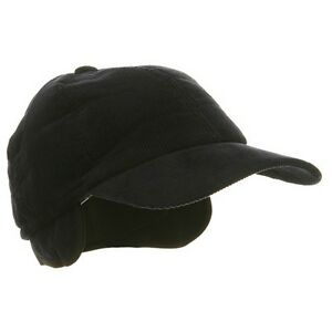 Details about Adult Men s Winter Corduroy Quilted Baseball Cap Hat With Ear  Flap Navy MEDIUM e7b636b78c5