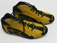 Alpinestars F1-t Racing Shoes Mens Low Top Yellow Black Leather Race Boots
