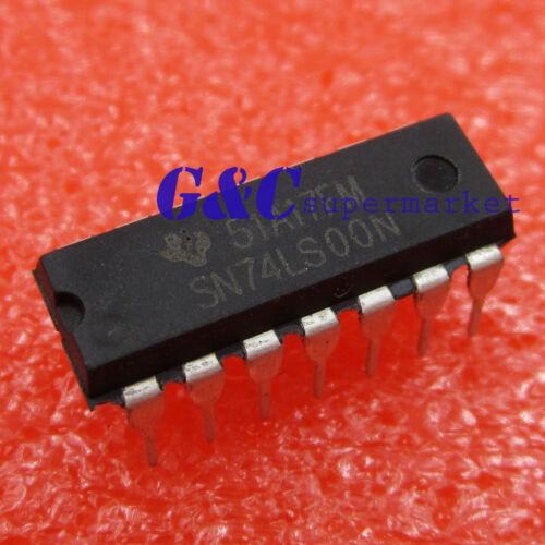50PCS SN74LS00N TI IC GATE NAND 4CH 2-INP 14-DIP NEW