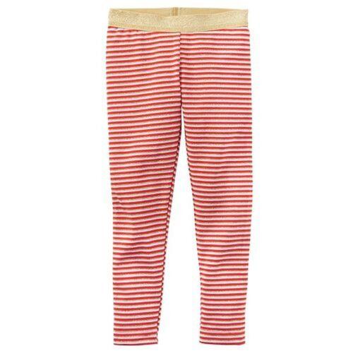 New Carter/'s Red White Gold Striped Glitter Leggings NWT 2T 3T 4T 5T 6 7 8 Girls