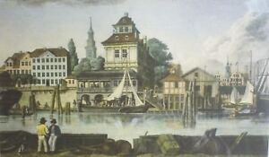 DAS-ALTE-BAUMHAUS-IN-HAMBURG-Nachdruck-eines-Kupferstichs-von-1822-nach-RADL