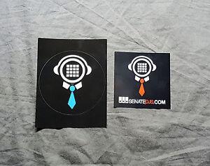 Senate Dj's TWO Sticker Set<<>>Rane<<>>Serato<<>>Reloop