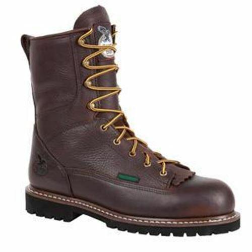Georgia Men's Waterproof Lace-To-Toe Work BootS Dark Brown G101