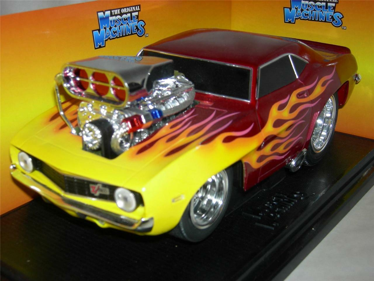 69 CAMARO IN RED & FLAMES  MUSC.MACH.MIB1 18