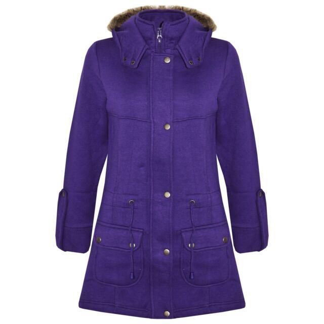 2a7859c35937 Girls Coat Kids Fleece Parka Jacket Long Faux Fur Hooded Summer ...