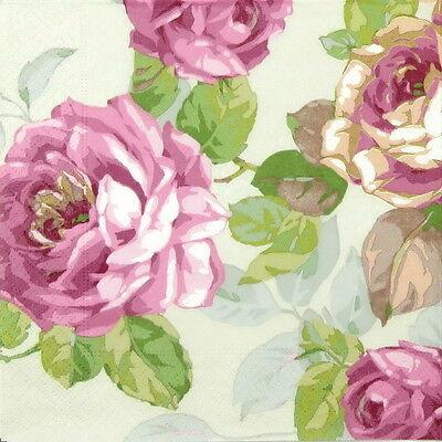 4x Paper Napkins for Decoupage Decopatch Craft La Mer De Fleurs