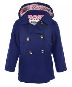 28072f0b2 Osh Kosh B gosh Toddler Girls Navy Blue Lightweight Trench Coat Size ...