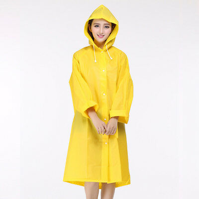 Women Raincoat Clear Rain Coat Hooded Jacket Ladies Outdoor Waterproof Rainwear