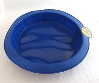 Smartware Silicone Bakeware Blue Round Cake Pan