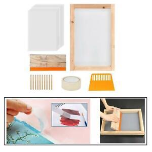 Starter-kit-per-serigrafia-24x-cornice-per-serigrafia-in-legno-con-rete-e-nastro