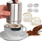 Coffee Decorating Dredger Cocoa Duster Mold cappuccino art barista tool New