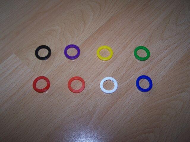 4 WEDO Schlüsselkennringe in 8 Farben erhältlich
