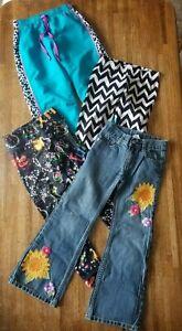 4 Pc Girl S Clothes Lot Blue Jeans Leggings Pants Animal Print Justice X Mas 7 Ebay