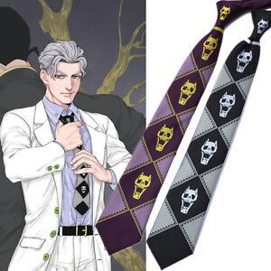 Us Ship Jojo Bizarre Adventure Kira Yoshikage Cosplay Tie Skinny