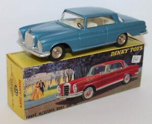 Vintage-Dinky-Toys-533-Mercedes-Benz-Coupe-300Se-Blue